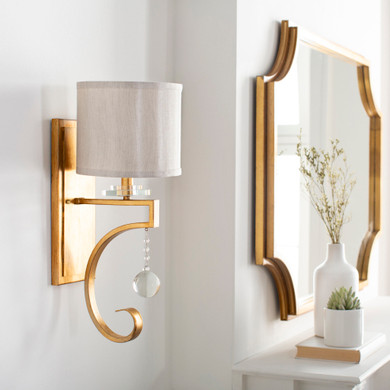 Gold Hand Finished Translucent Wall Sconce