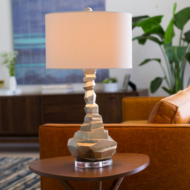 Alexis Silver Gilded Composition Body Table Lamp