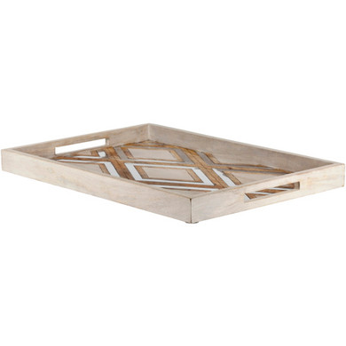 Arely Decorative Tray Metal,Wood