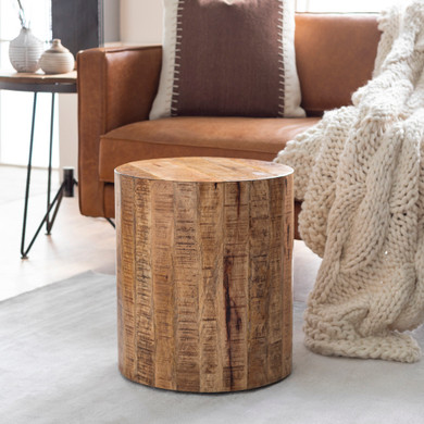 Troyes Kiln-dry Natural Wood End Table