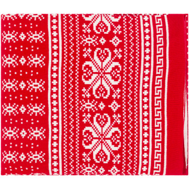Rudolf 60 X 50 inch Bright Red/Ivory Throws