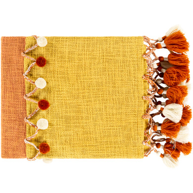 Amarie 60 X 50 inch Burnt Orange/Mustard/Khaki/Clay Throw