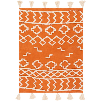 Tut 60 X 50 inch Burnt Orange/Cream Throw