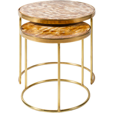 Yara Gold Accent Table