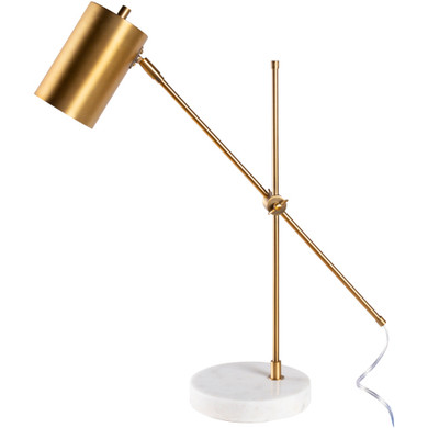 Hannity 24 inch Brass Brushed Table Lamp