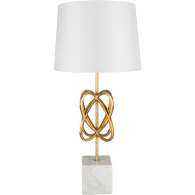 Bellamy Gold Gilded Marble Base Table Lamp