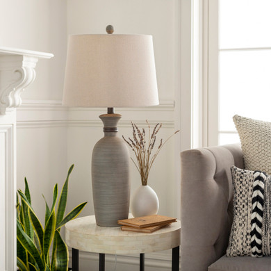 Abellona Gray Hand Finished Table Lamp
