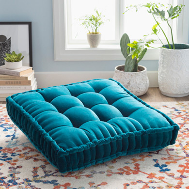 """Bauble 24""""H x 24""""W Teal Pillow Cover"""