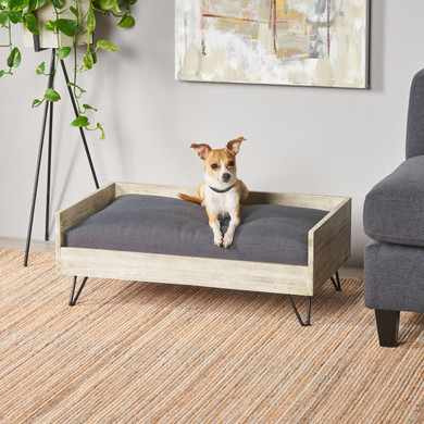 Grey Accent Dog Bed