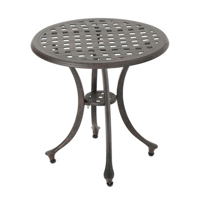 Round Bronze Dining Outdoor Table