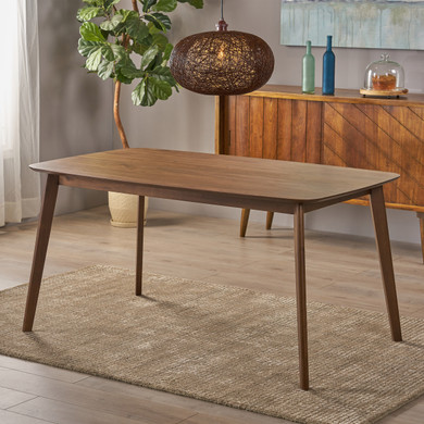 Natural Walnut Accent Dining Table