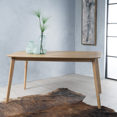 Light Brown Walnut Accent Dining Table
