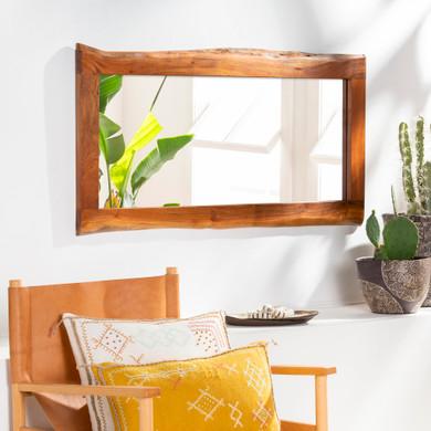 Edge Exotic Wood Frame Mirror