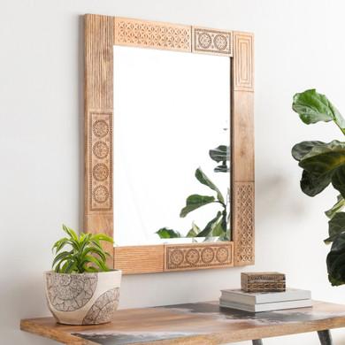 Dilwara Wood Frame Mirror