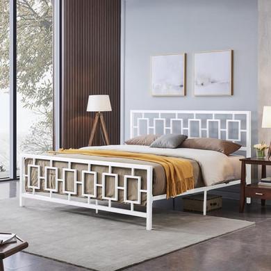 Modern Iron King Bed Frame