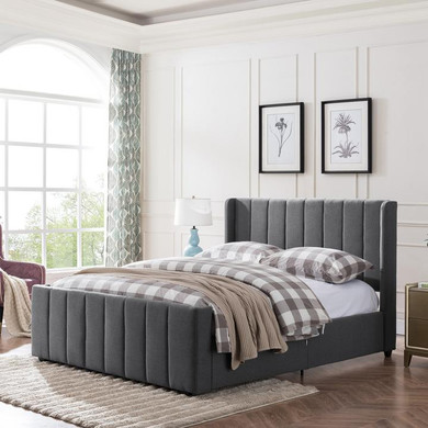 Fully Upholstered Queen Size Bed Frame
