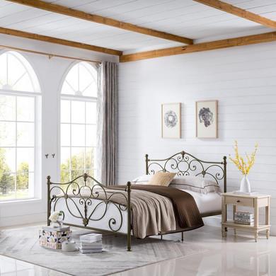 Luis Iron Queen Bed