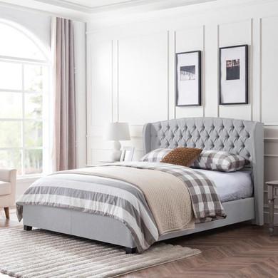 Fully-Upholstered King-Size Platform Bed