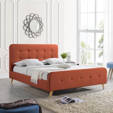 Modern Glam Button-Tufted Queen Velvet Bed