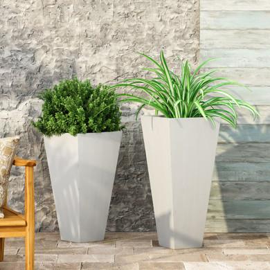 Outdoor Cast Stone Planter Set (Set of 2)