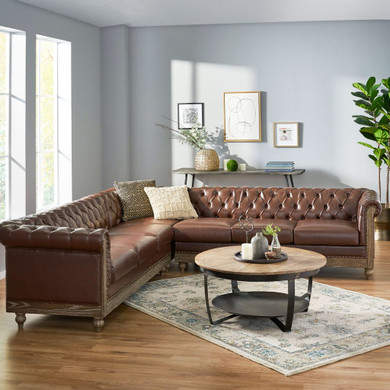 Chesterfield Tufted 7 Seater Sectional Sofa
