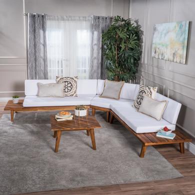 4 Piece Sandblast Finished Sectional Sofa Set