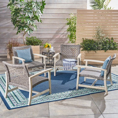 Outdoor Wicker Club Chairs