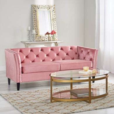 Modern Tufted Velvet 3 Seater Sofa