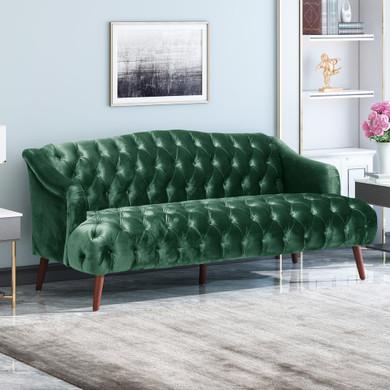 Glam Tufted Velvet 3 Seater Sofa