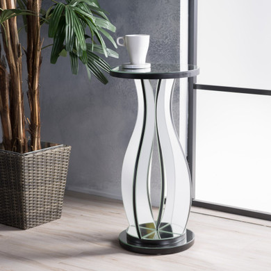 Mirror Accent End Table