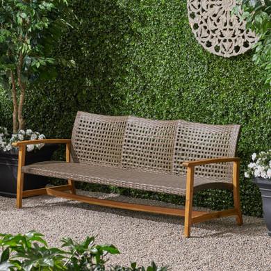 Outdoor 3-Seater Wicker Weave Sofa