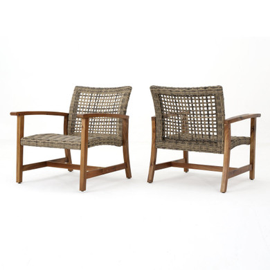Outdoor Mid Century Chairs (Set of 2)