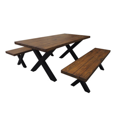 4 Seater Benches & Table Picnic Dining Set