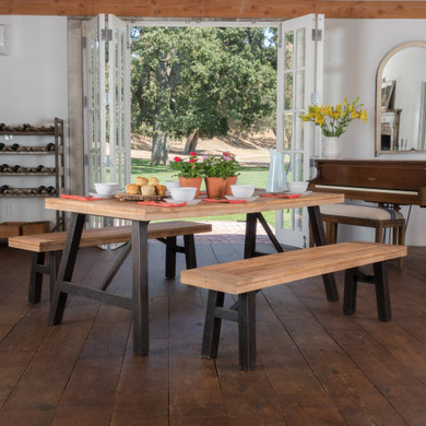 4 Seater Benches & Table Dining Set