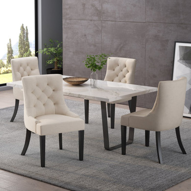 Hourglass Fabric Dining Chairs (Set of 4)