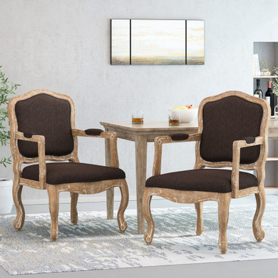 French Upholstered Dining Armchair