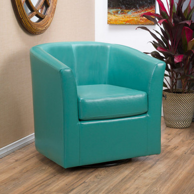 Upholstered Faux Leather Club Chair
