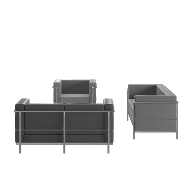 HERCULES Regal Series Reception Set in Gray LeatherSoft
