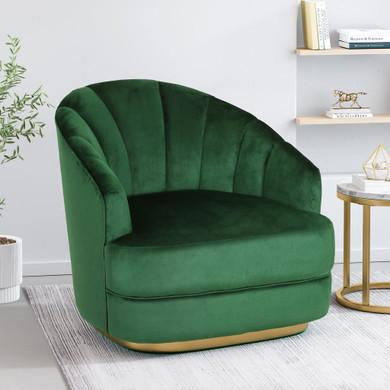 Modern Velvet Club Chair