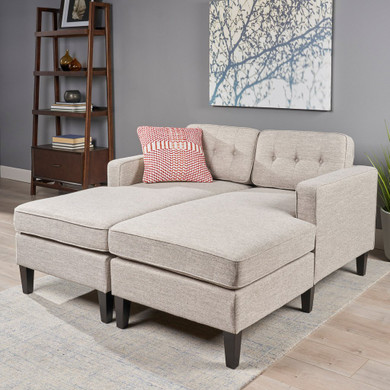 Contemporary Fabric Chaise Daybed