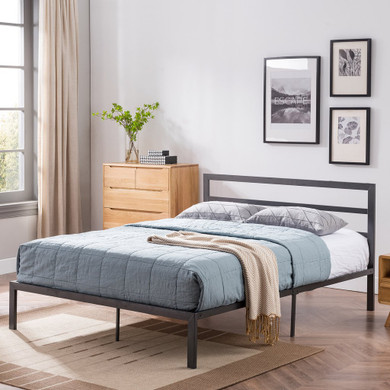 Slat Iron Queen-Size Bed Frame