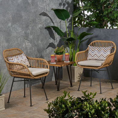 Outdoor Woven Faux Rattan Chairs