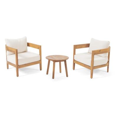 Outdoor Acacia Wood 2 Seater Set