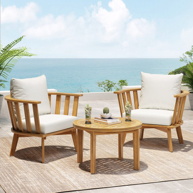 Outdoor 2 Seater Wooden Set