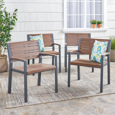 Trimble Outdoor Aluminum Chair Set