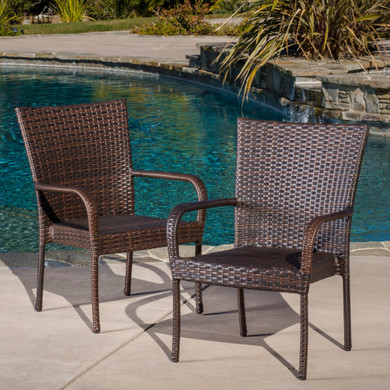 Contemporary Wicker Stacking Chairs