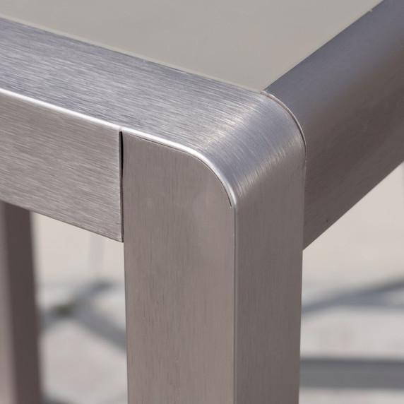 Outdoor 5 Piece Silver Rust-Proof Aluminum Bar Set