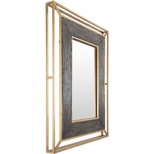 Allure Gold Frame Wall Mirror