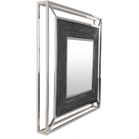 Allure Silver Frame Wall Mirror