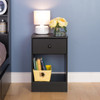 Astrid Tall 1-Drawer Nightstand, Black